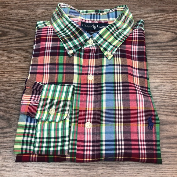 Polo by Ralph Lauren Other - Polo Ralph Lauren Madras Plaid Shirt XL